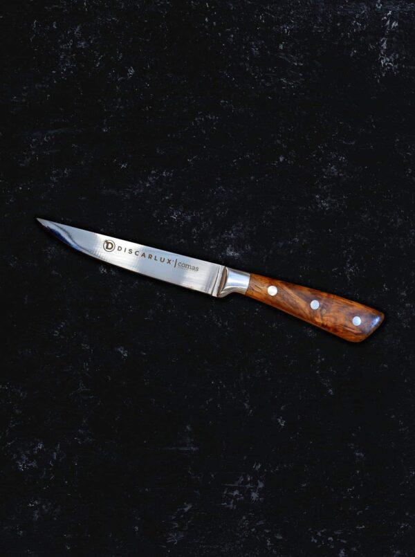 cuchillo discarlux mango de madera grabado